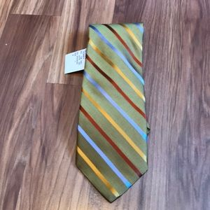 Robert Talbott men's golf stripe neck tie NWT